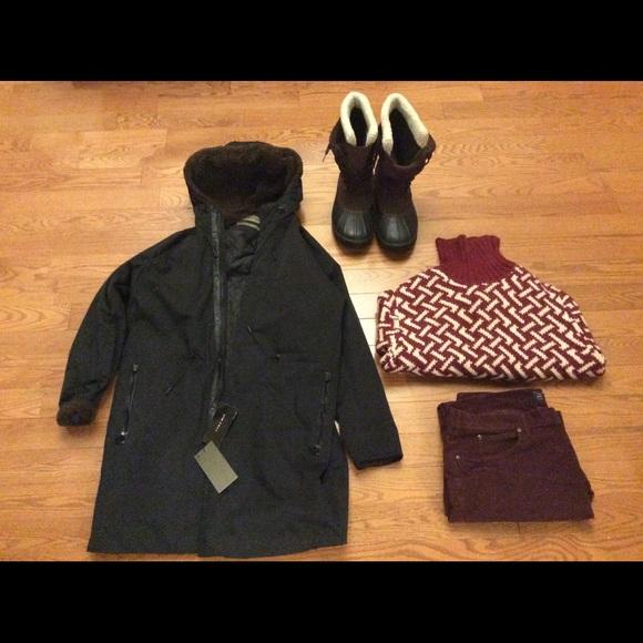 c779adc6 Zara Jackets & Coats   Man Black Faux Fur Parka Size L   Poshmark